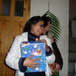 Veronica with present