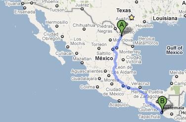 Driving through Mexico